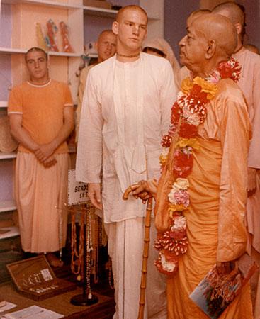April 2 1972 - my first photo with Srila Prabhupada (I was still Bhakta Harry)