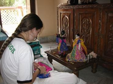 Rasarani-priya with chota Radha Madhava
