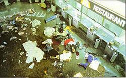 El Al counter after the attack