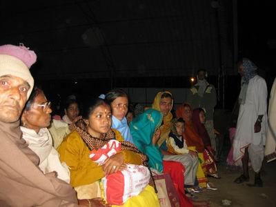 pilgrims enjoying the night