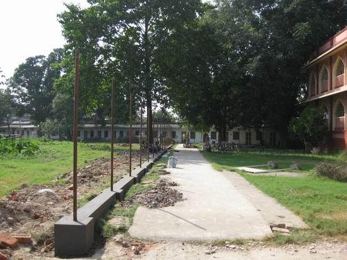 TOVP perimeter fence poles go in